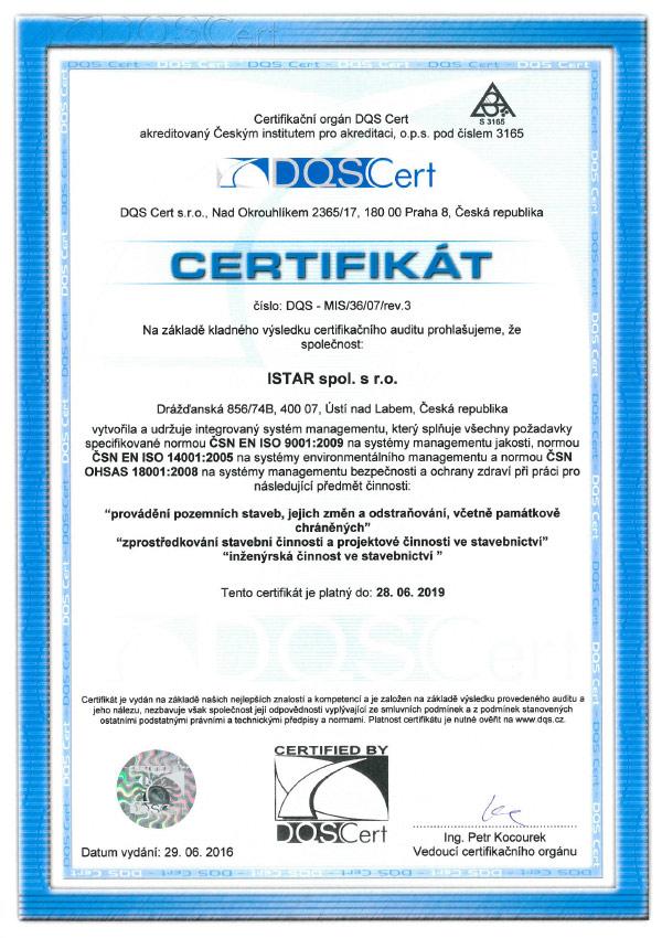 istar-certifikace